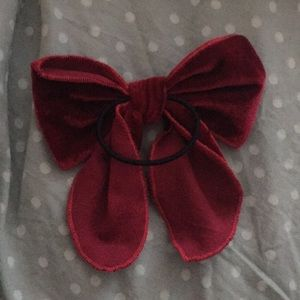 Anthropologie Accessories - Anthropologie maroon hair bow